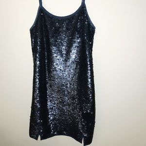 NBD Indigo Sequin Dress